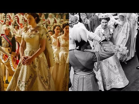 'THE CROWN' CORONATION vs REAL CORONATION OF QUEEN ELIZABETH II IN 1953 Comparison