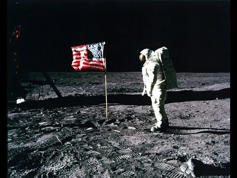 Historic Apollo 11 Moonwalk Footage