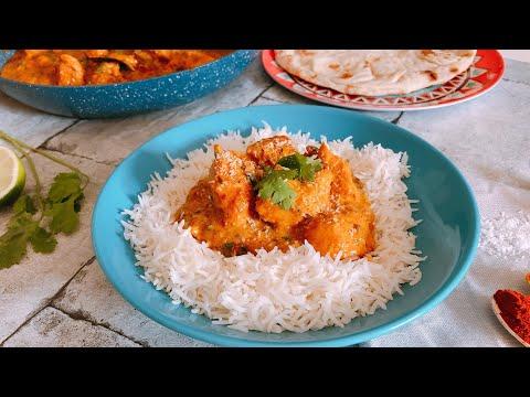 Poulet au curry et lait de coco et soja