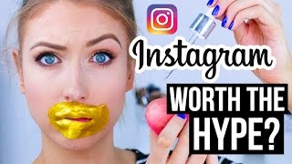 FULL FACE Using INSTAGRAM HYPED Makeup?! || What Worked & What DIDN'T