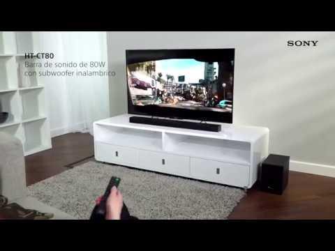 Sony HT CT80 - Conjunto de barra de sonido y altavoz Bluetooth de 80W, 2.1 canales