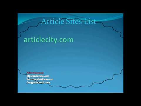 article submission sites list | High PR, Article, Directory, Get Free Backlinks | Online SEO Tips