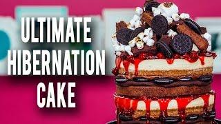 How To Make My ULTIMATE HIBERNATION CAKE! Piled High With Cheesecake, Cherries, Brownies & Ganache!