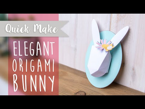 Create Your Very Own Origami Bunny - Sizzix