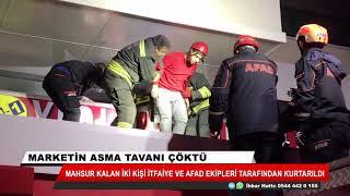 Konya'da marketin asma tavanı çöktü! 2 kişi tavanın altında kaldı