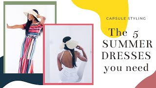 Capsule Styling 5 Summer Dresses - Lots Of Outfits, Plus THE White Lace Dress!