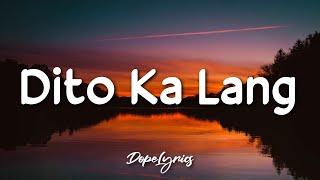 Dito ka lang - Cash koo ft. Pk dice (Lyrics)   Pwede bang dito ka lang