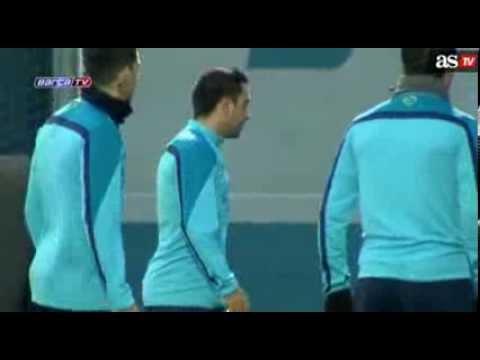 Comedy on Fc Barcelona Training 2014 with Leo Messi , Iniesta,Neymar & All Players ●