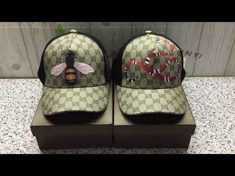 GUCCI embroidered kingsnake hat unboxing and review