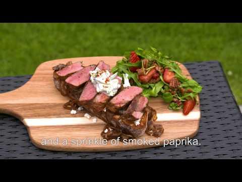 Moroccan Spiced Open Lamb Steak Sandwich