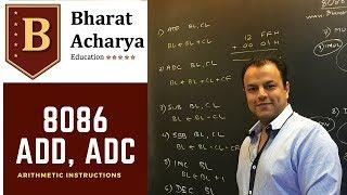 8086 Arithmetic Instructions   ADD, ADC etc   Bharat Acharya Education