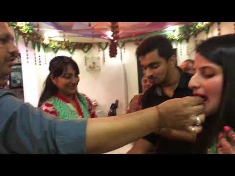 Jugal & Jinal welcomed at home after marriage