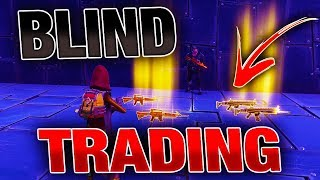 *NEW* BLIND TRADING For BEST WEAPONS EVER! | Fortnite Save the World