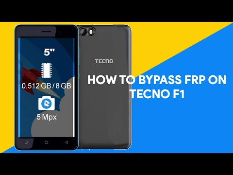 How To Bypass FRP On Tecno F1 - [romshillzz]