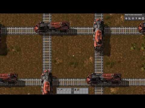 Factorio Train-ballet