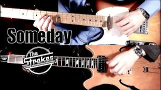 Someday - The Strokes  ( Guitar Tab Tutorial & Cover )