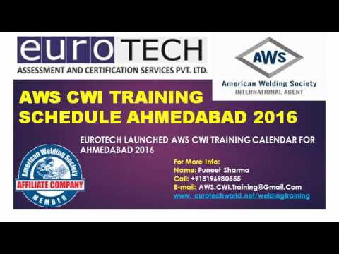 AWS CWI Schedule Ahmedabad Gujrat 2016 - YouTube