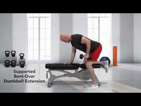 Supported Bent-Over Single Arm Dumbbell Row