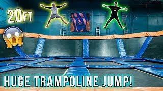 INSANE TRAMPOLINE PARK JUMPING CHALLENGE!