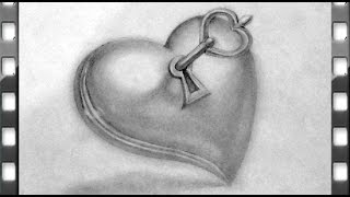Comment Dessiner Un Coeur Avec Une Clé