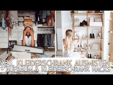 XXL Kleiderschrank ausmisten + Kleiderschrank HACKS   AnaJohnson