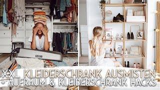 XXL Kleiderschrank ausmisten + Kleiderschrank HACKS | AnaJohnson