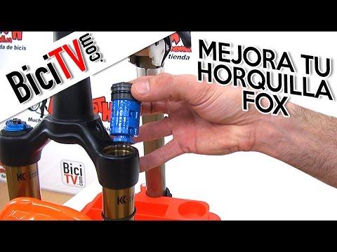 Cómo variar la progresividad de una horquilla Fox