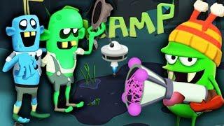 Zombie Catchers ОХОТА НА БОЛОТНЫХ ЗОМБАРЕЙ Мультяшная игра для детей ЛОВЦЫ ЗОМБИ