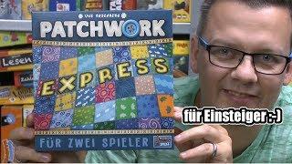 Patchwork Express für 2 Spieler (Lookout) - ab 6 Jahre - Generationsspielsiegel Jung und Alt