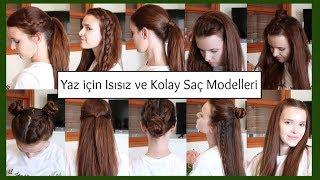 Yaz İçin Isısız ve Pratik Saç Modelleri ⛅