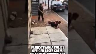 Cop tasers man for no reason
