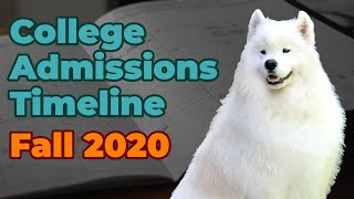 How to Manage the Timeline of College Admissions (Fall 2020)