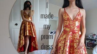 making my prom dress