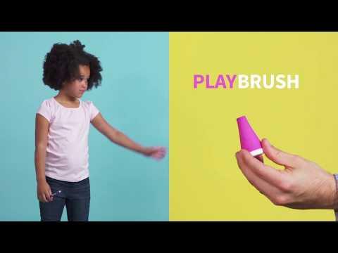 PLAYBRUSH išmanusis dantų šepetėlio kotelis SMART, rožinė spalva, nuo 3 m., 1 vnt.