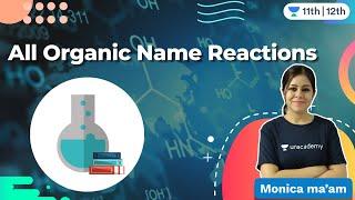 CBSE Class 12: All Organic Name Reactions | Chemistry | Unacademy Class 11 & 12 | Monica Bedi - MONICA