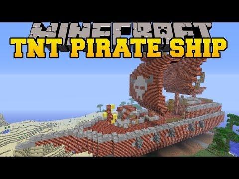 Minecraft Massive Tnt Pirate Ship Creation Build Map
