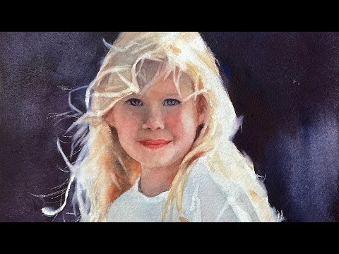 Watercolor Portrait of a Gorgeous Child