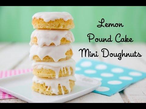Lemon Pound Cake Mini Doughnuts – Easter Dessert Recipe – Weelicious