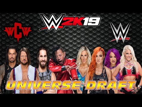 Draft | Raw vs Smackdown vs WCW vs BCW | WWE 2K19 Universe