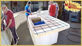 Concrete Countertops for $429 in Earthbag Kitchen | Full Version
