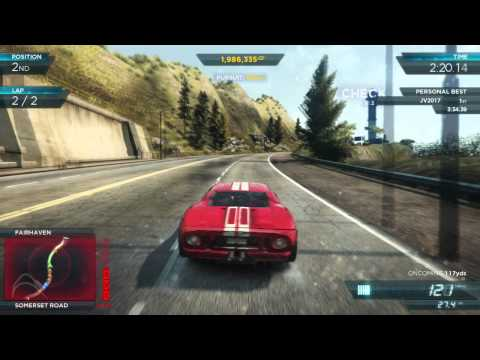 Nfs Most Wanted Ford Gt Red Shift Circuit Race Nfs
