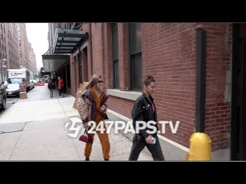 Gigi Hadid and Bella Hadid are a Stylish Duo as they Head to NYFW Fitting Together 091118