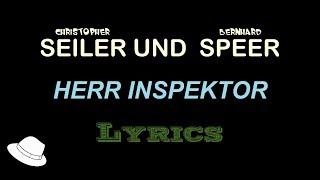 Herr Inspektor (Seiler Und Speer)   Lyrics