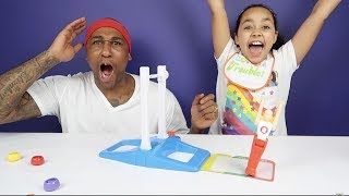 FANTASTIC GYMNASTICS CHALLENGE! Losers Eat Gross Bad Baby Food | Toys AndMe Family Video