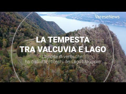 La notte di tempesta che ha distrutto i boschi del Lago Maggiore