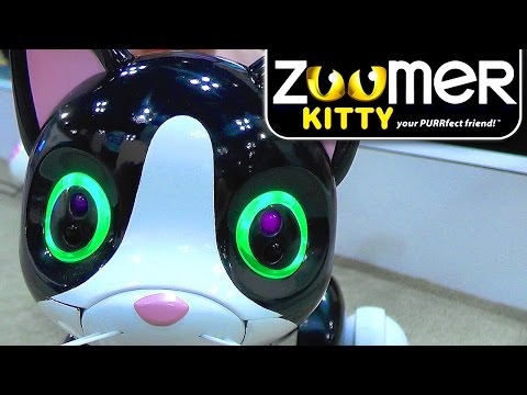 Zoomer Kitty - Robot Cat Vision, Touch, Tremble, Lights and Purrs