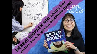 WHERE ARE MY BOOKS? picture book readaloud 📚and art demo 🎨 plus song!