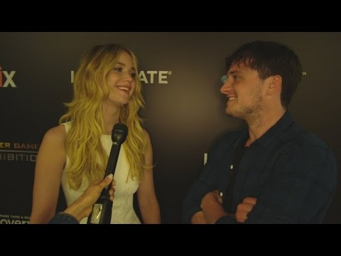 Jennifer Lawrence and Josh Hutcherson Show Off 'Hunger Games' Interactive Exhibit