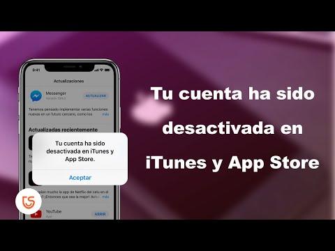 tu cuenta ha sido desactivada en itunes y app store