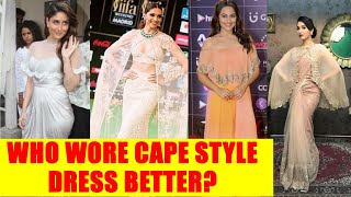 Kareena Kapoor, Deepika Padukone, Sonakshi Sinha, Tammanah Bhatia: Who Wore Cape style dress Better?